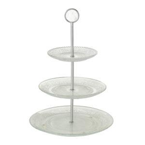 Frutero cristal tres platos