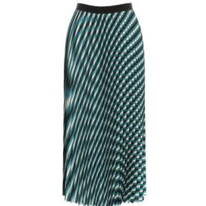 Falda larga plisada rayas