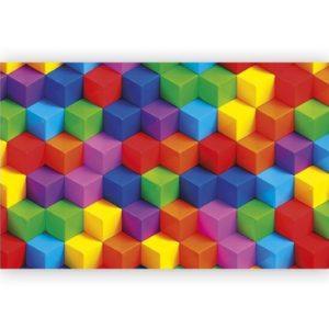 Alfombra junior cubos multicolor
