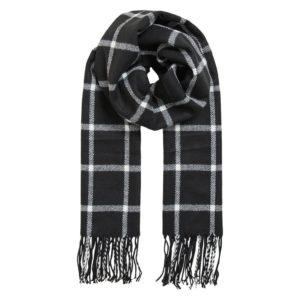 Bufanda cuadros blanco y negro