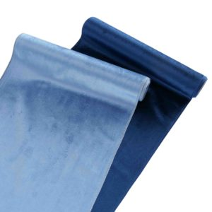 Camino de mesa terciopelo azul 2 colores