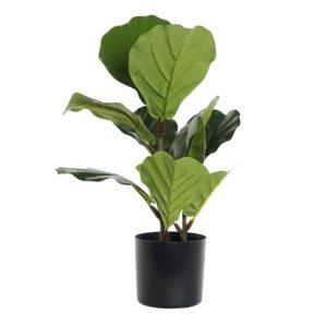 Planta ficus verde artificial