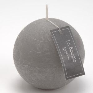Vela esfera gris