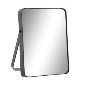 Espejo sobremesa metal negro