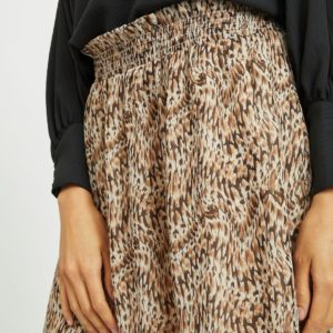 Minifalda estampada marrón