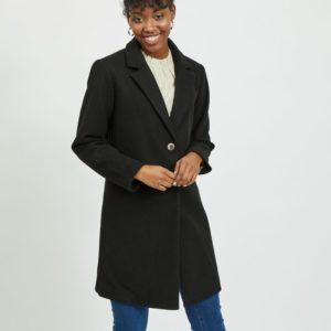 Abrigo negro corte recto