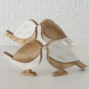 Figura pájaros madera
