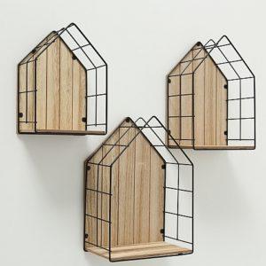 Estantería madera metal 3 tamaños
