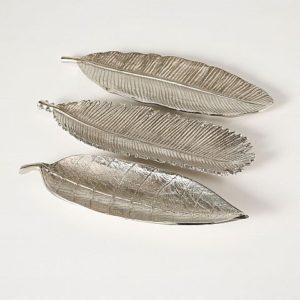Bandeja hoja aluminio plata
