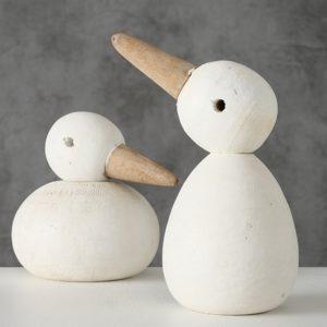Figura patos madera reciclada