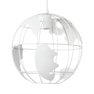 Lámpara de techo metal esfera mundo