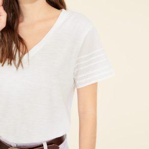 Camiseta mangas voile algodón orgánico