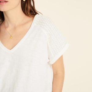 Camiseta hombros bordados 2 colores