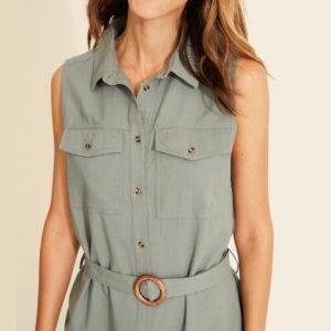Vestido midi safari cinturón 2 colores