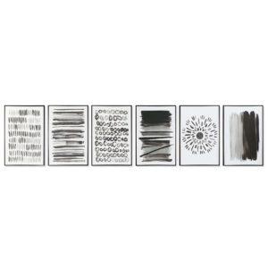 Cuadros enmarcados lienzo blanco negro