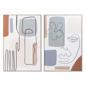 Cuadros enmarcados lienzo abstracto caras