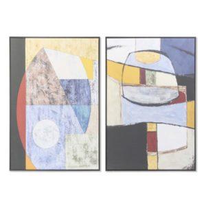 Cuadros enmarcados lienzo abstracto multicolor