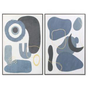 Cuadros enmarcados lienzo abstracto azul