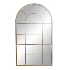 Espejo metal ventana dorado
