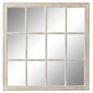 Espejo ventana madera blanco decapé