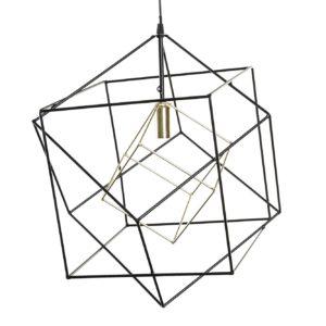 Lámpara de techo metal formas cubos