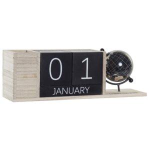 Calendario decoración sobremesa mundo