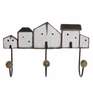 Perchero de pared casas madera