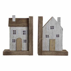 Sujetalibros madera casas