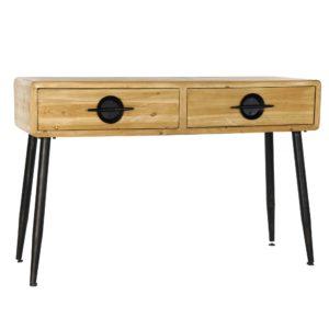 Consola madera natural metal