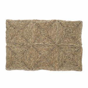 Alfombra cuadrícula fibra natural
