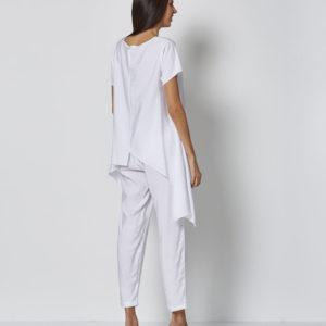 Pantalón blanco casual con stopper