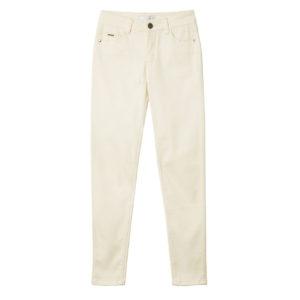Pantalón vaquero blanco roto