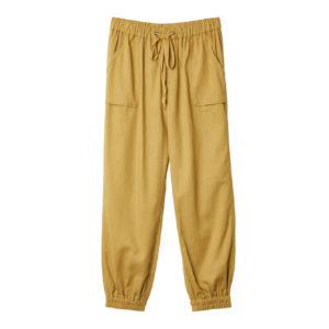 Pantalón lino camel gomas