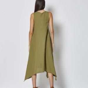 Vestido con pinzas picos laterales 2 colores