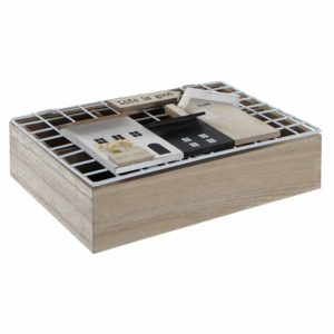 Caja de infusiones madera natural casas