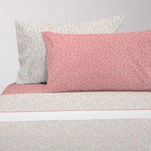 Juego de sábanas estampado florecitas