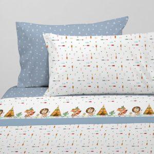Juego de sábanas infantil estampado indio