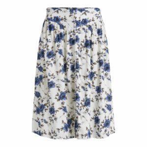 Falda midi crudo estampado floral