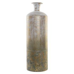 Jarrón metal desgastado tropical 72 cm