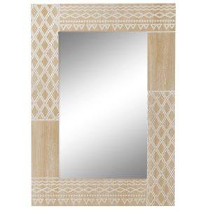 Espejo madera grabado boho