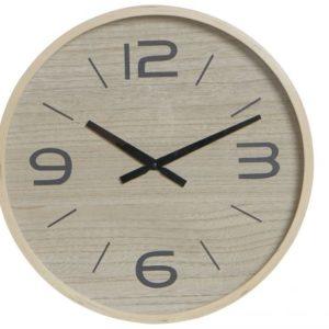 Reloj de pared madera natural negro