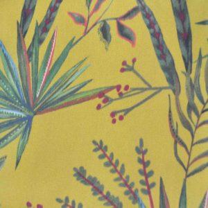 Mantel resinado antimanchas mostaza tropical
