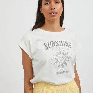 Camiseta algodón blanco roto sol