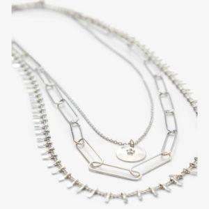Collar cadenas eslabones plata
