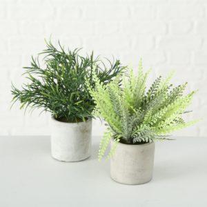 Planta artificial hojas verdes
