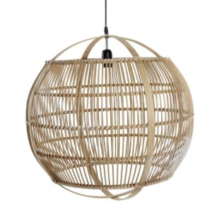 Lámpara de techo bambú natural