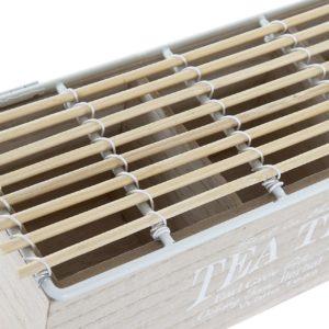Caja de infusiones madera ratán natural
