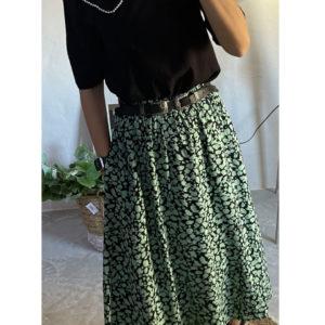 Falda midi cintura alta